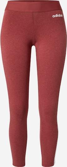 ADIDAS PERFORMANCE Pantalon de sport en rouge carmin / blanc, Vue avec produit