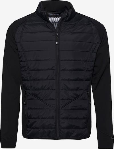 CODE-ZERO Softshell-Jacke 'SECOND LAYER' in schwarz: Frontalansicht