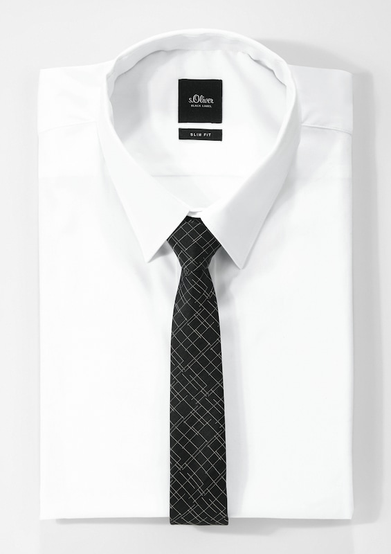 S.oliver Black Label Tie With Fine Pattern