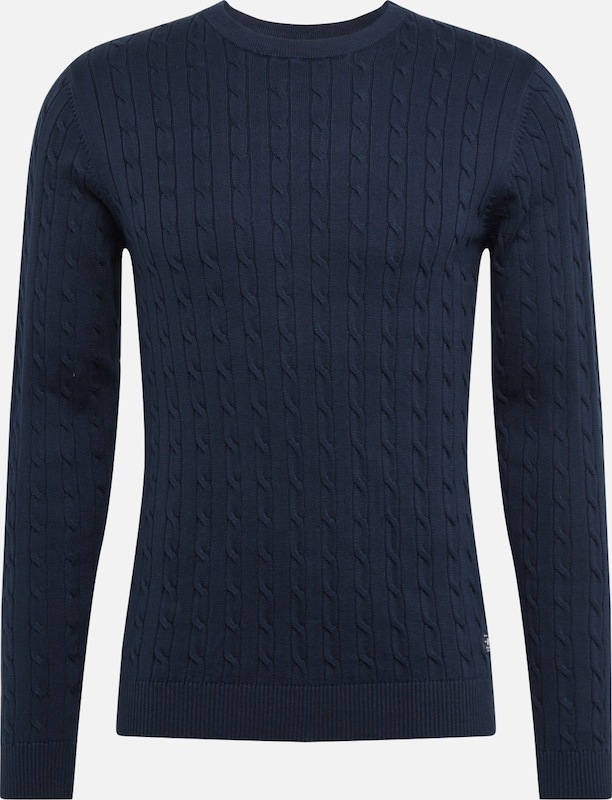 JACK & JONES Pullover 'JPRRICHARD KNIT CREW NECK NOOS' in navy: Frontalansicht