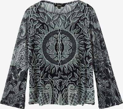 Desigual T-shirt 'Dijon' en menthe / noir / blanc, Vue avec produit