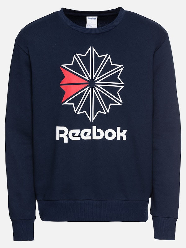 Big Crew' Ft Classic 'ac En Starcrest Reebok Marine Bleu Shirt Sweat Spaq4nxwO