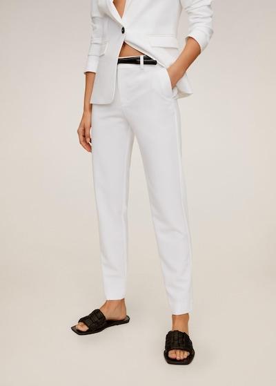 MANGO Hose boreal6 in weiß, Modelansicht
