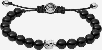 DIESEL Armband 'STACKABLES' in schwarz / silber, Produktansicht
