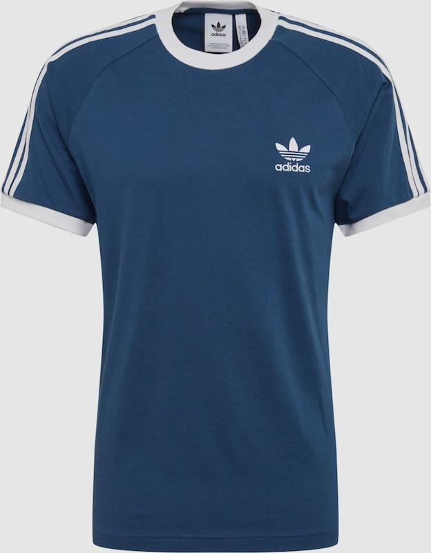 adidas t shirt weiß blauer streifen