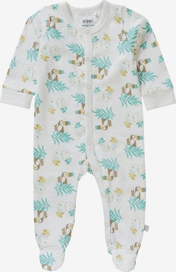 Pippi Schlafanzug mit Füßen in mischfarben, Produktansicht