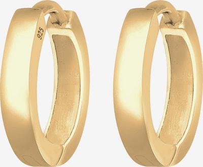 ELLI Ohrringe 'Creole Basic' in gold: Frontalansicht