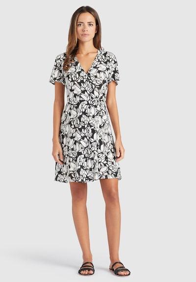 khujo Kleid 'Paca' in schwarz / weiß, Modelansicht