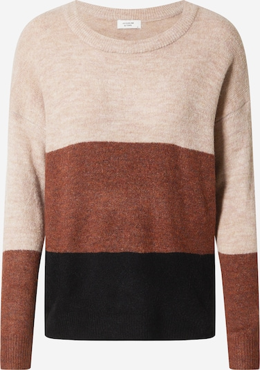 JACQUELINE de YONG Sweater 'ELANORA' in beige mottled / brown / black, Item view