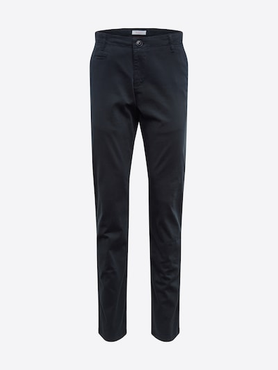KnowledgeCotton Apparel Pantalon chino en bleu foncé: Vue de face