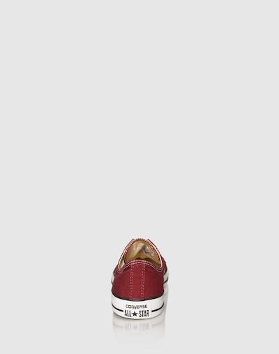CONVERSE Nizke superge | češnjevo rdeča barva: Pogled od zadnje strani