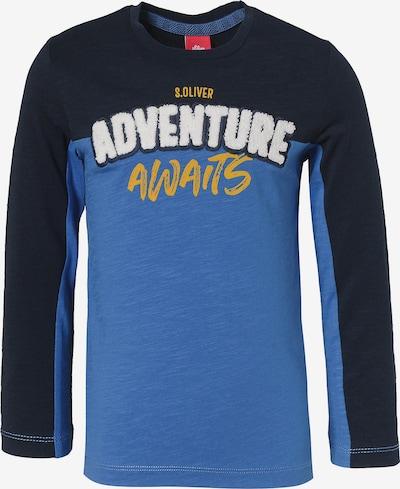 s.Oliver Junior Shirt in blau / nachtblau / gelb / weiß, Produktansicht