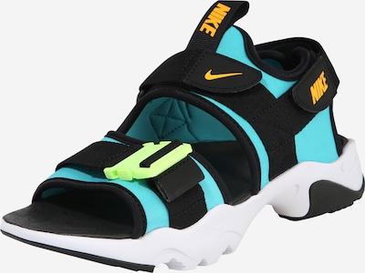 Nike Sportswear Sandaal 'Canyon' türkiis / must / valge, Tootevaade