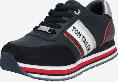 TOM TAILOR Sneaker in kobaltblau / rot / silber, Produktansicht
