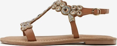 LASCANA LASCANA Sandale in braun / hellbraun, Produktansicht