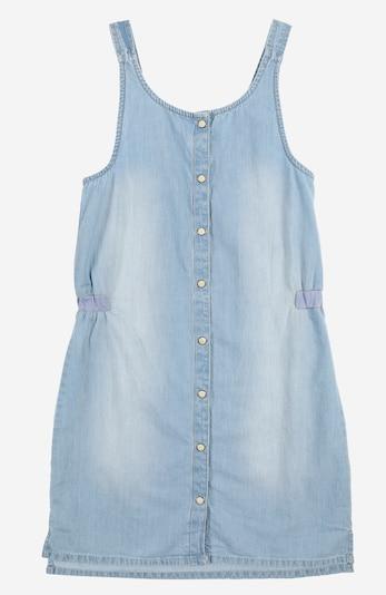 ESPRIT Kleid mit Druckkopf-Details in blue denim: Frontalansicht