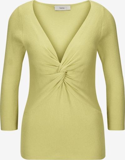 heine Trui in de kleur Pasteelgeel, Productweergave