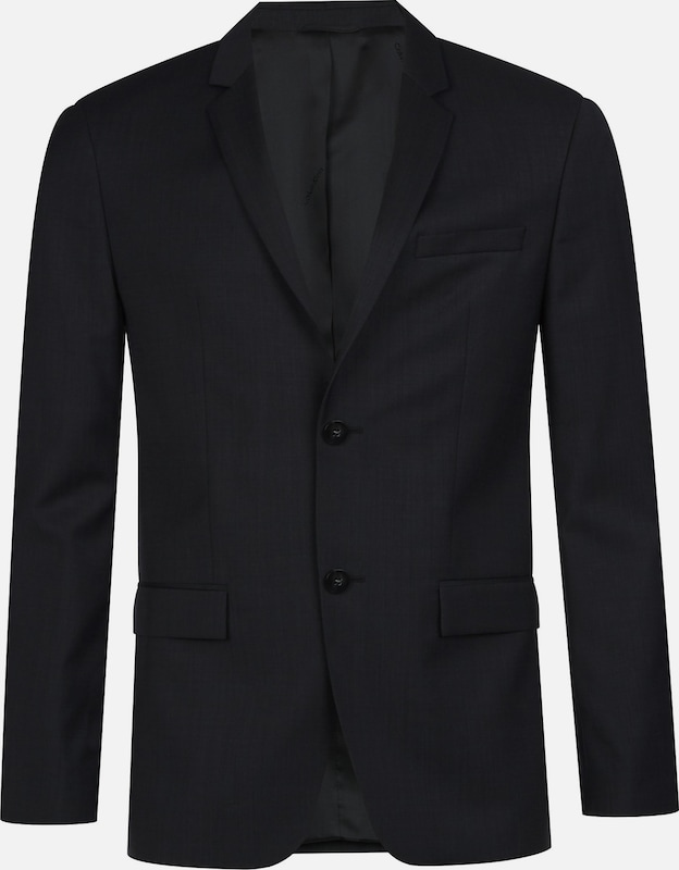 Calvin Klein Fitted Textured Wool Blazer in schwarz, Produktansicht
