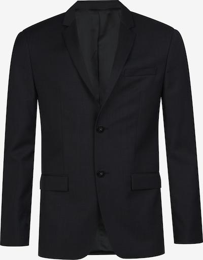 Calvin Klein Fitted Textured Wool Blazer in schwarz, Produktansicht
