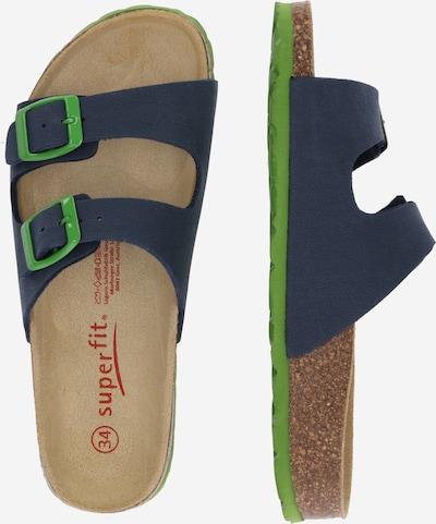 Pantofi deschiși SUPERFIT pe albastru închis / verde limetă: Privire laterală