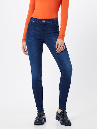 ONLY Jean 'onlIRIS MID SK PUSHUP RETHK BB SOO50017K' en bleu denim: Vue de face