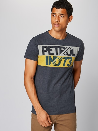 Petrol Industries T-Shirt in blue denim: Frontalansicht
