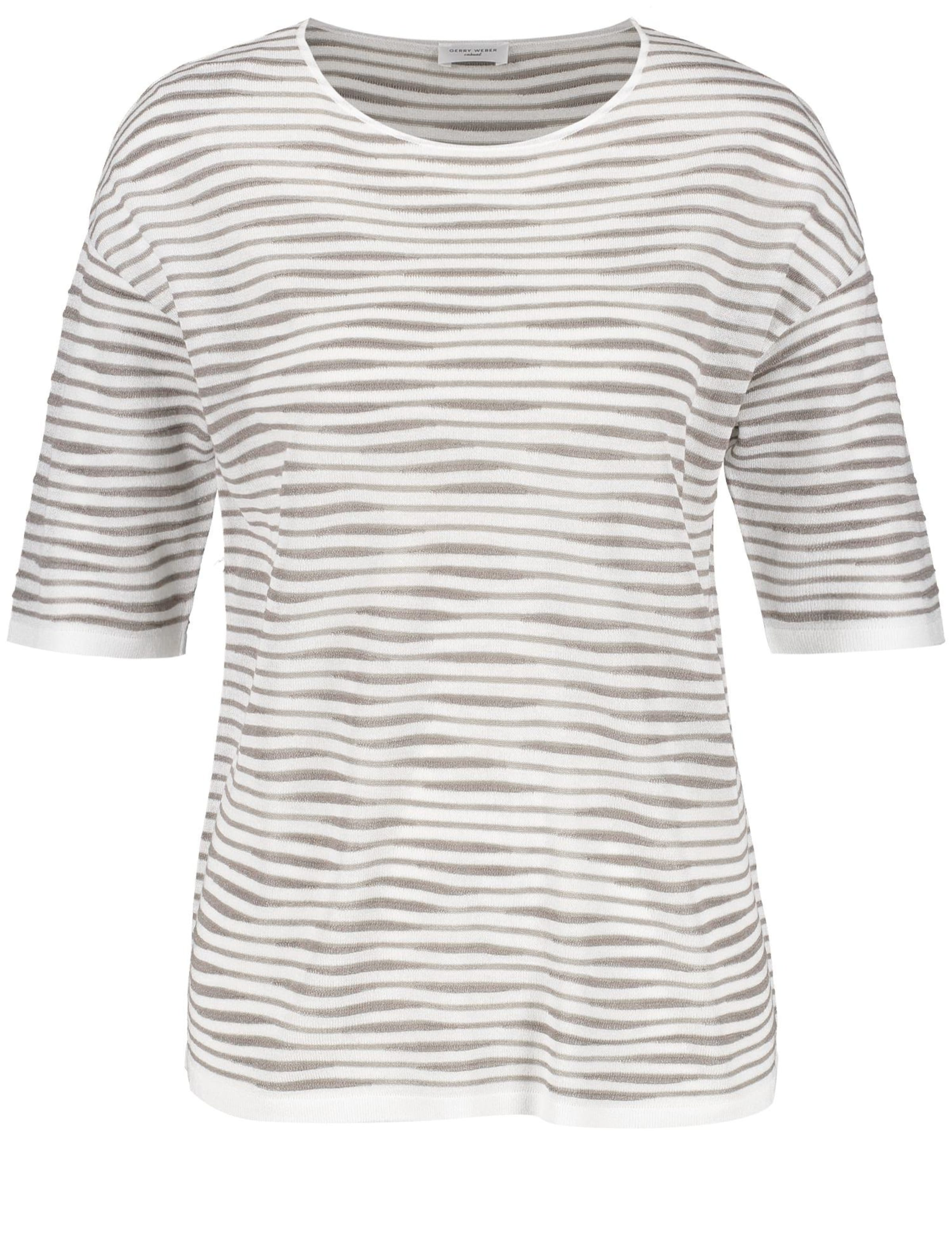 Shirt In Gerry Weber BraunNaturweiß 0OPwnk