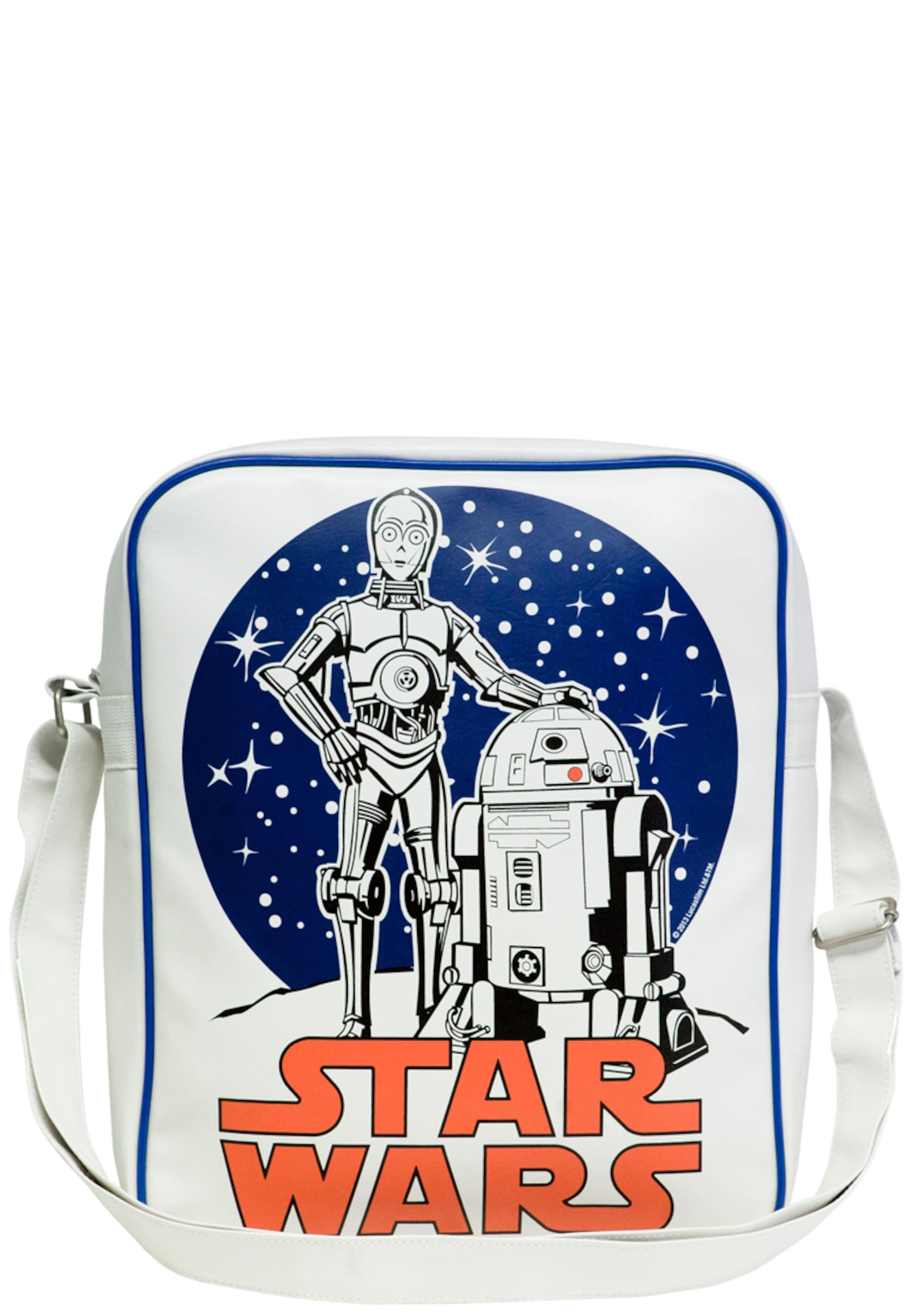 Der In Logoshirt 'krieg SterneC Tasche 3po d2' Weiß R2 w0nOkXNP8
