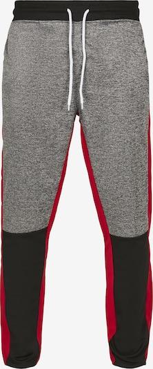 SOUTHPOLE Pantalón 'Marled Track' en gris moteado / rojo / negro, Vista del producto