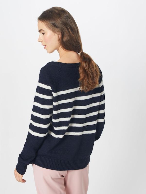 Sweater' Crewneck Ezekiel Knit En 'piper MarineBlanc Pull Bleu over CexodB