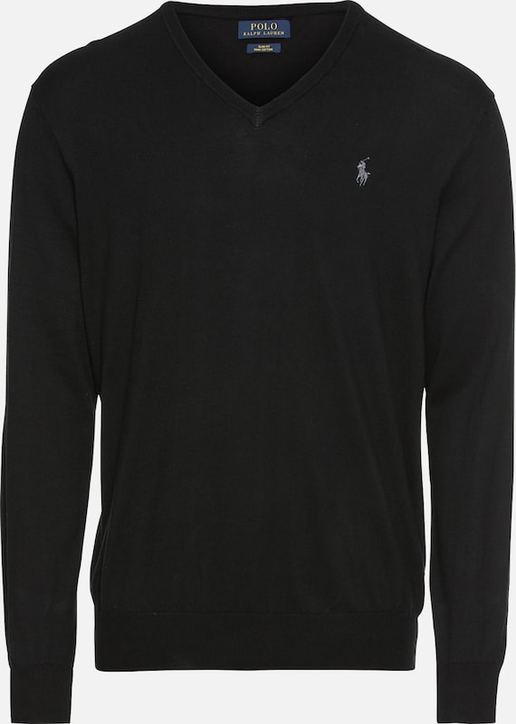 POLO RALPH LAUREN Pullover 'LS SF VN PP-LONG SLEEVE-SWEATER' in schwarz, Produktansicht
