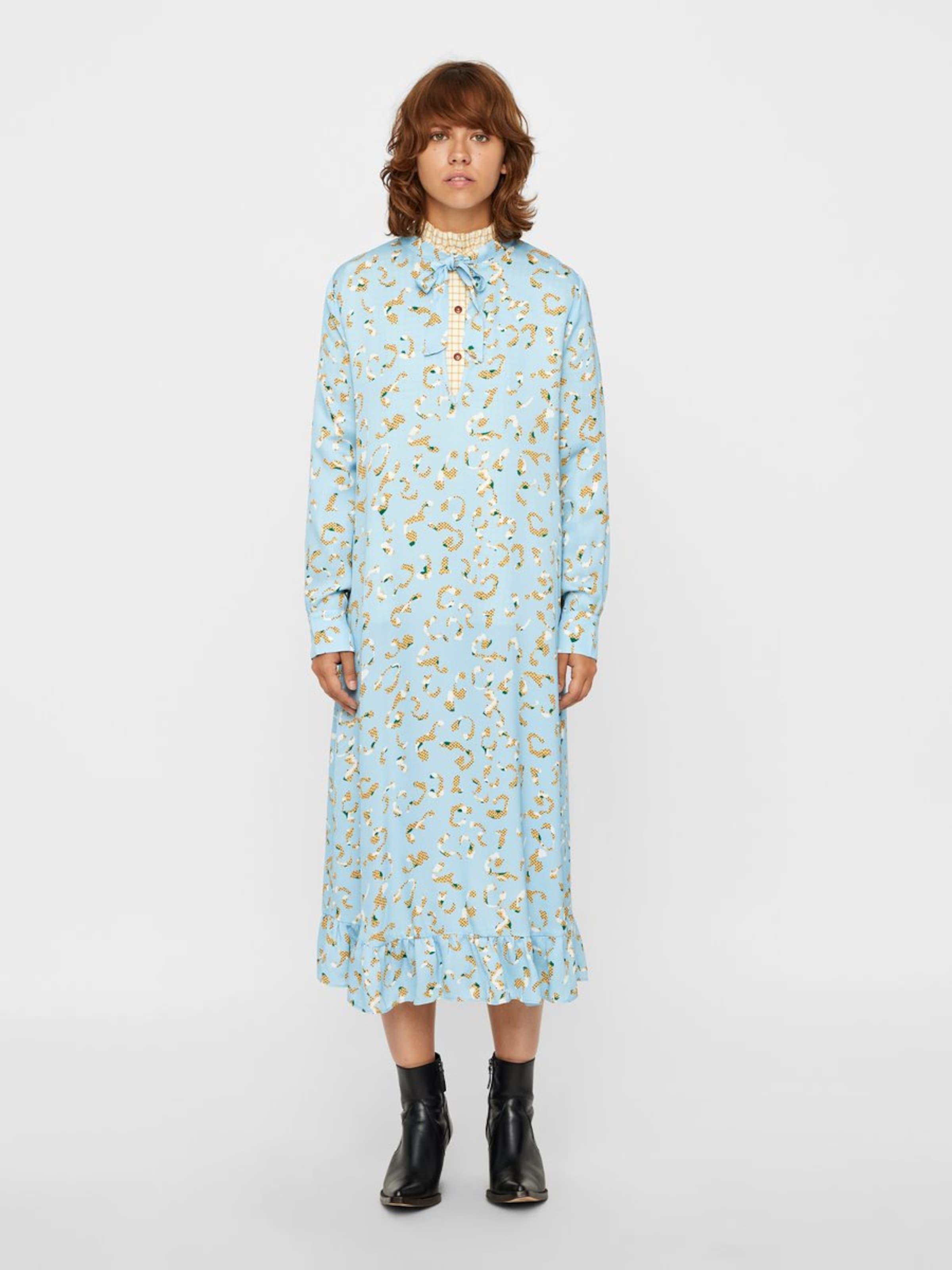 In Kleid Kleid Postyr HellblauGelb HellblauGelb Kleid In Postyr Postyr In Weiß Weiß nX8O0Pkw