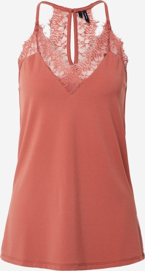 Vero Moda Tall Top 'VMMILLA S/L LACE TOP COLOR TALL' in rostbraun / orange, Produktansicht