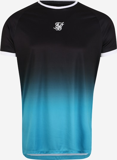 SikSilk T-Shirt 'siksilk raglan straight hem fade tee' in blau / schwarz, Produktansicht