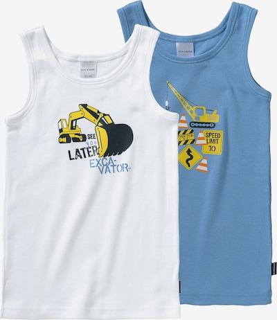 SCHIESSER Unterhemd in royalblau / mischfarben / weiß, Produktansicht