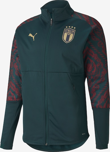 PUMA Sportjas in de kleur Goudgeel / Donkergroen / Wijnrood, Productweergave