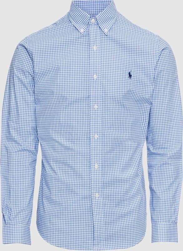 POLO RALPH LAUREN Hemd 'SL BD PPC SP-LONG SLEEVE-SPORT SHIRT' in blau   weiß  Großer Rabatt