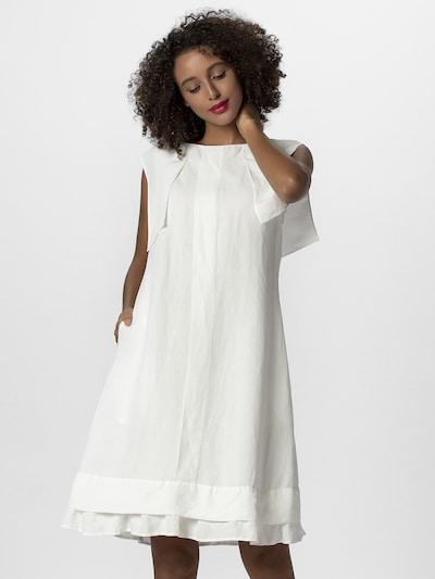 APART Leinenkleid in A-Form in weiß, Modelansicht