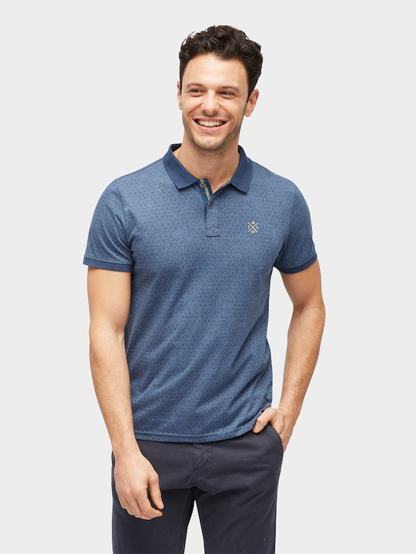 TOM TAILOR Gemustertes Polo-Shirt