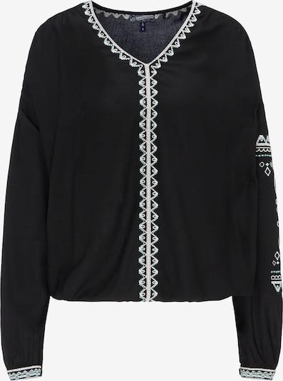 DREIMASTER Bluse in opal / schwarz / weiß: Frontalansicht
