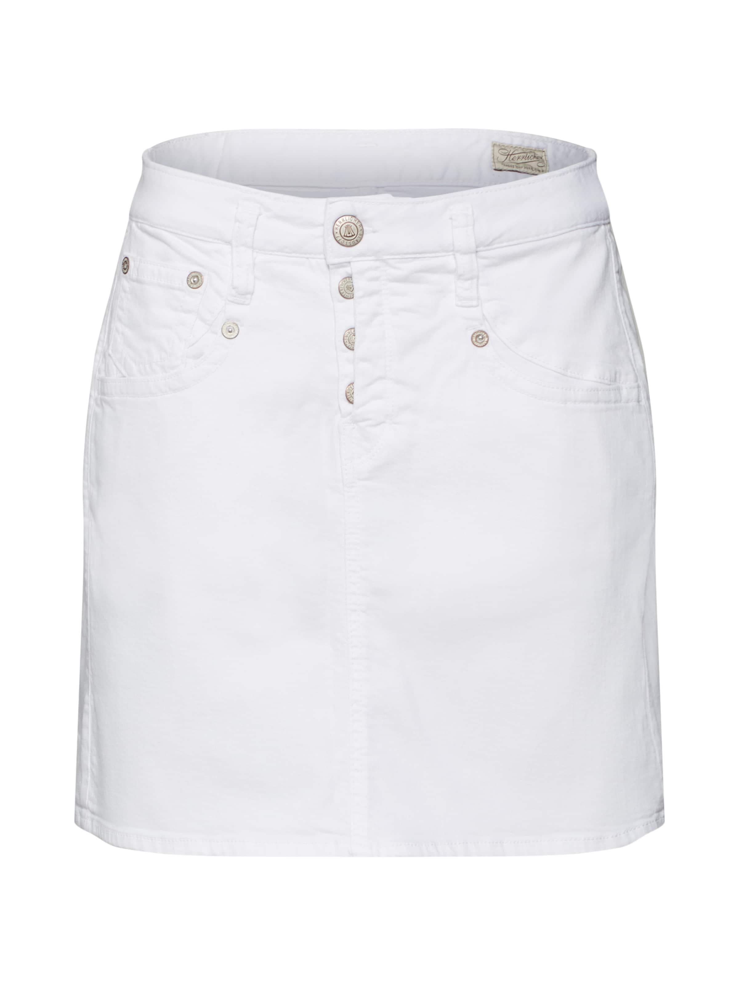 'shyra Skirt Drill Jupe Blanc Stretch' En Herrlicher EWDYIH29