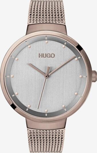 HUGO Uhr in rosegold / silbergrau, Produktansicht
