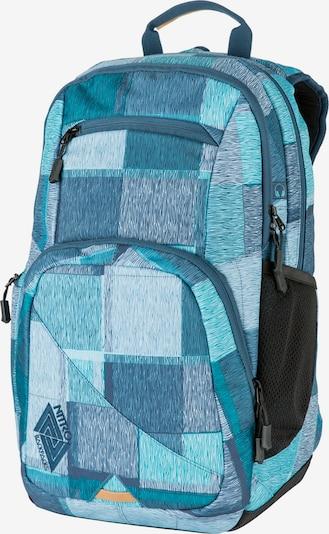 NITRO Sac à dos de sport en aqua / bleu clair / bleu foncé / noir, Vue avec produit