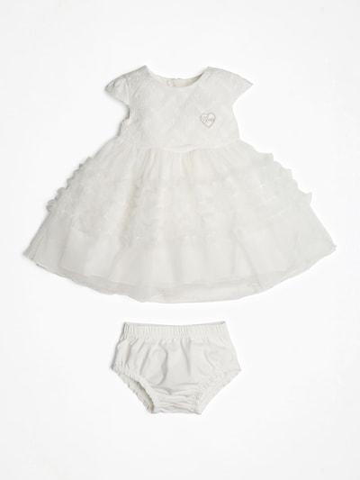 GUESS KIDS Zweiteiliges Kleid in weiß: Frontalansicht