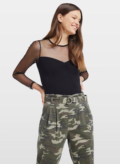 Miss Selfridge T-Krekls pieejami melns: Priekšējais skats