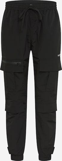 fekete Worst Behavior Cargo nadrágok: Elölnézet