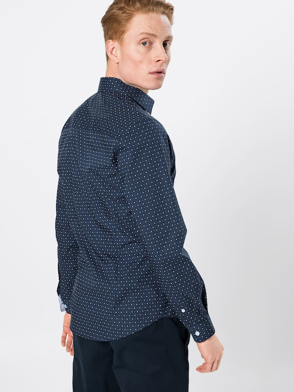 Aop Overhemd '60s Collection In Navy Ls' Wit Esprit tOUqn