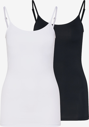 VILA Top 'SURFACE STRAP' in schwarz / weiß, Produktansicht