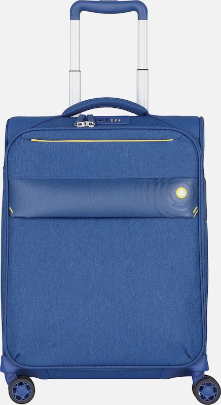 D&N Kabinentrolley 'Travel Line 8004' in blau: Frontalansicht