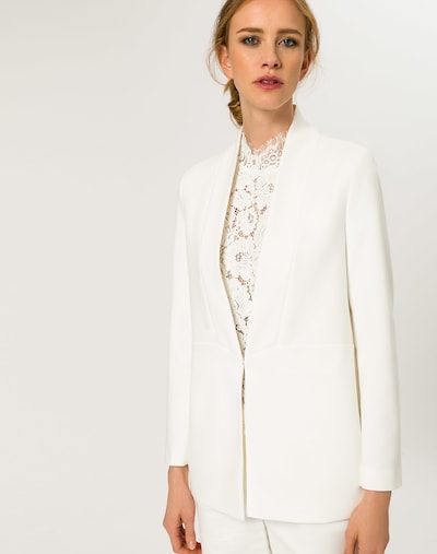 IVY & OAK Blazer en blanc, Vue avec modèle